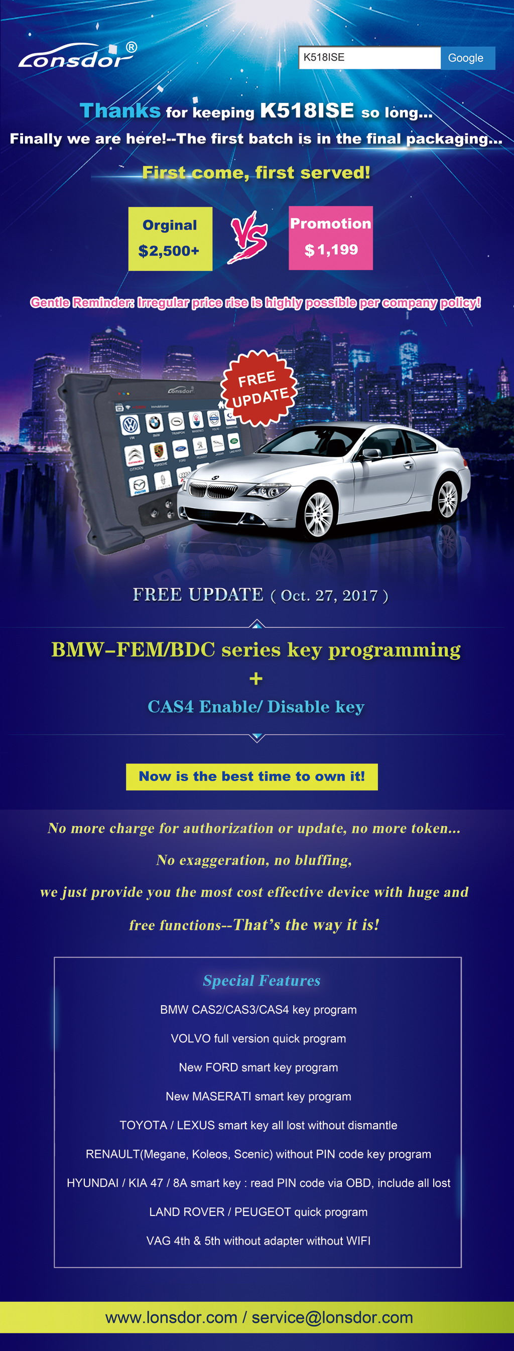 K518ISE is ready-BMW-free update